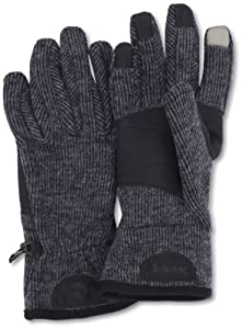 Timberland Men's Ribbed Knit Wool Blend Glove with Touchscreen Technology, Charcoal, Large