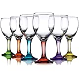 Carnival 10oz Assorted Colored Wine Glasses - Set OF 12