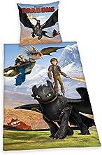 Herding 442658050 Bettwäsche Dragons, Kopfkissenbezug 80 x 80 cm und Bettbezug 135 x 200 cm, 100 % Baumwolle, Renforce