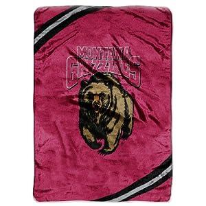 Northwest Montana Grizzlies Plush 60x80 Rachel Blanket by Northwest