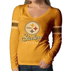 NFL Pittsburgh Steelers Ladies Homerun Long Sleeve Tee by