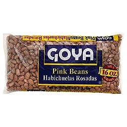 Goya Pink Beans Habichuelas Rosadas 16oz (Pack of 3)