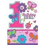 Amscan International Invitation Sweet Birthdayi Girl