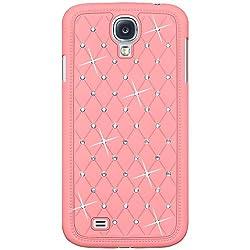 Amzer 95748 Diamond Lattice Snap On Shell Case - Light Pink for Samsung GALAXY S4 GT-I9500