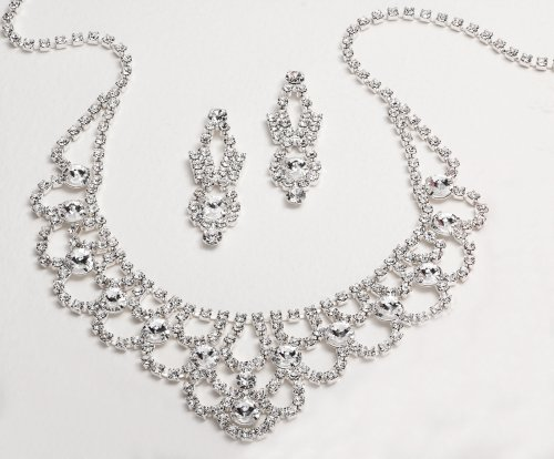Bridal Jewelry, Austrian Crystal Necklace &#038; Earring Set 539