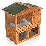 Hasenbedarf ᐅ Stall ᐅ Hasenstall mit offenen Boden, robust und regendicht