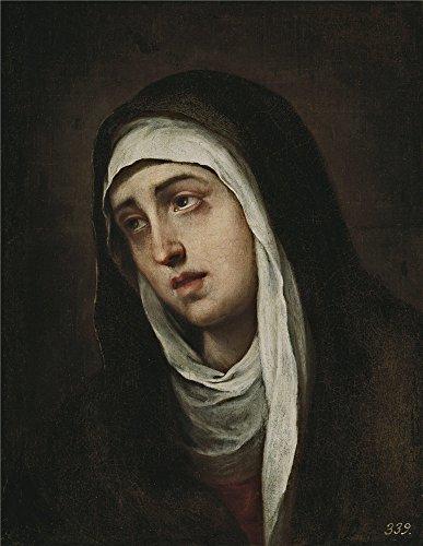 the-high-quality-polyster-canvas-of-oil-painting-murillo-bartolome-esteban-la-dolorosa-ca-1669-size-