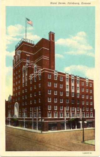 1930s Vintage Postcard Hotel Besse - Pittsburg