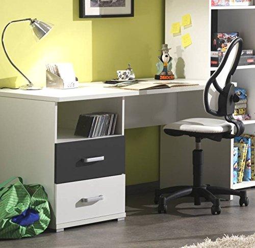 Vipack Schreibtisch Josh , weiß-anthrazit