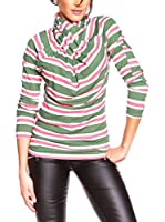 BANDIDA Camiseta Manga Larga (Verde / Rosa / Blanco)