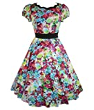 H&R London 50's Summer Floral Scallop Dress Multi