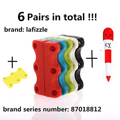 6 ACCOPPIAMENTI 6 Colore magnetica scarpe Chiusure - Mai Tie Laces Again! dimensione adulta