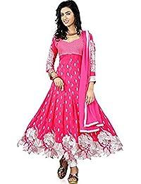 S R FASHION New Arrival Womens Gajari Cut Work Anarkali Dress With Dupatta Set_D10(1803_Color_Gajari_Round_Neck_Sleeve_Long...