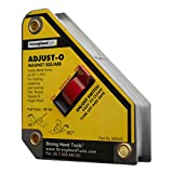 Strong Hand Tools, Adjust-O Magnetic Square, On/Off Switch, Max Pull Force: 65 lbs (30kg), 45° & 90° Angle, 4-3/8 x 3-3/4 x 1?, Patented Design, MSA45 (Tamaño: 1 Pack)