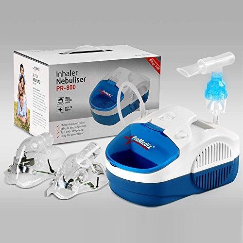 promedix-pr-800-aerosol-a-pistone-con-nebulizzatore-inalatore-set-di-maschere-promedix-pr-800