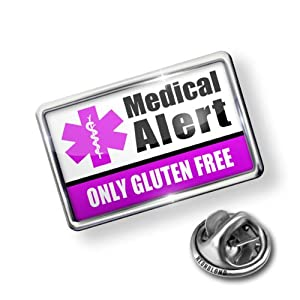 Pin Medical Alert Purple Only Gluten Free - Lapel Badge - NEONBLOND by NEONBLOND