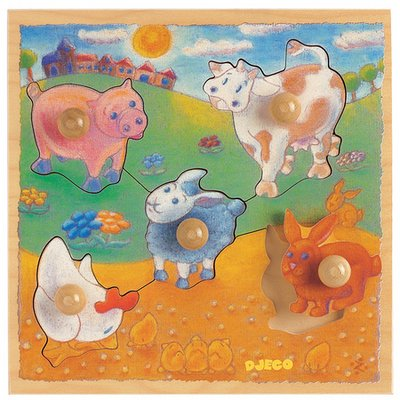 Picture of Djeco Farm Peg Puzzle (B000JT5NDG) (Pegged Puzzles)