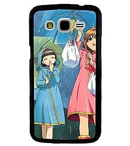 Printvisa Rainy Day With Friends Back Case Cover for Samsung Galaxy J7::Samsung Galaxy J7 J700F