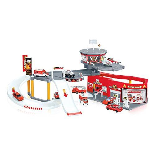 Norev a1000607 garages caserne 3551090460009 jeux jouets garages alertemoi - Grand garage voiture jouet ...