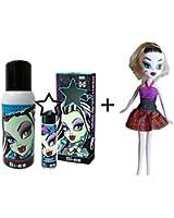 Ensemble Monster High Frankie Stein - eau de parfum 15 ml, Déodorant 100 ml + 1 poupée offerte