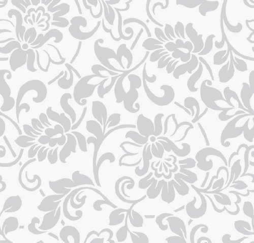 Klebefolie m belfolie ornamente silber grau 45 cm x for Graue klebefolie