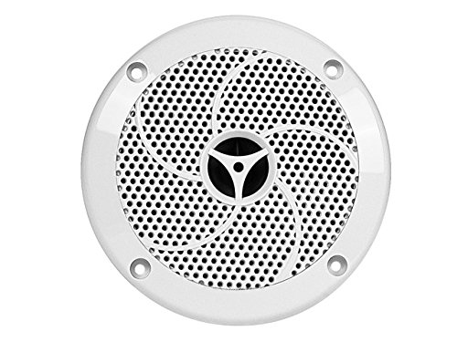 Monoprice 108554 Uv Resistant 5-1/4 Inches 2-Way Marine Speaker - Set Of 2