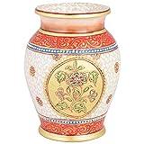 Alka Creations Marble Lota Shape Vase - (12.5 Cm * 12.5 Cm)