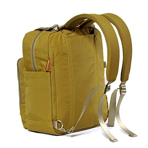 new bebamour travel backpack diaper bag tote handbag purse dark yellow ebay. Black Bedroom Furniture Sets. Home Design Ideas