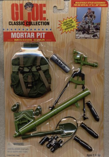 Picture of Hasbro 1/6 Scale 1996 GI Joe Mission Gear Mortar Pit for 12 inches Action Figure (B000K5UREY) (G.I. Joe Action Figures)