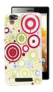 ECellStreet Exclusive Printed Soft Back Case Cover Back Cover For Intex Aqua Power 2 - Pink Circle
