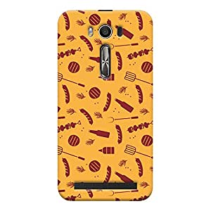 ColourCrust Asus Zenfone 2 Laser ZE500KL Mobile Phone Back Cover With Party Time Pattern Style - Durable Matte Finish Hard Plastic Slim Case
