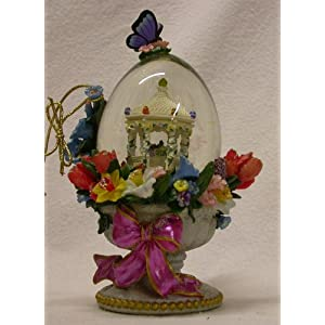 Christopher Radko Ornaments Mini Easter Bouquet Waterglobe Collectible