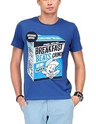 Yepme Men's Graphic Cotton T-shirt -YPMTEES0380-$P