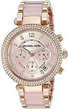 Comprar Michael Kors MK5896 - Reloj de cuarzo con correa de acero inoxidable para mujer, color rosa