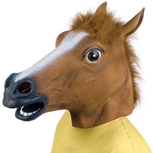 Latex Rubber Horse Head Mask Costume Halloween Gangnam Style Dance-One