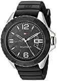 Tommy Hilfiger Men's 1791203 Casual Sport Analog Display Quartz Black Watch