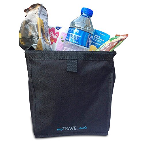 Premium Car Trash Can - Leakproof, Hanging Garbage Bag is Best to Recycle Waste - This Waterproof Vehicle Accessory Doubles as Drink Cooler - by MyTravelAide