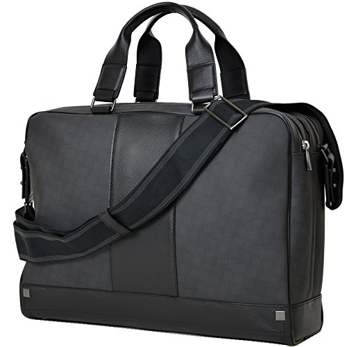 Dunhill(ダンヒル)D8 DOUBLE ZIP BRIEF CASE L3F141Z 1泊出張に便利・機能的収納力抜群 ちょい悪オヤジの心をくすぐる大人のブリーフバッグ  A4判が入るたっぷりサイズで収納力抜群! 2Way ビジネスバッグ  【並行品】