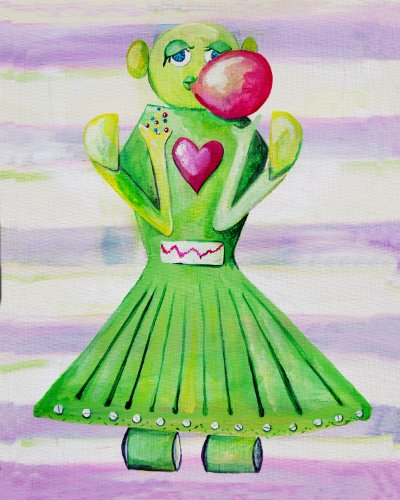 Cici Art Factory Wall Art, Poppy Loves Bubblegum, Small