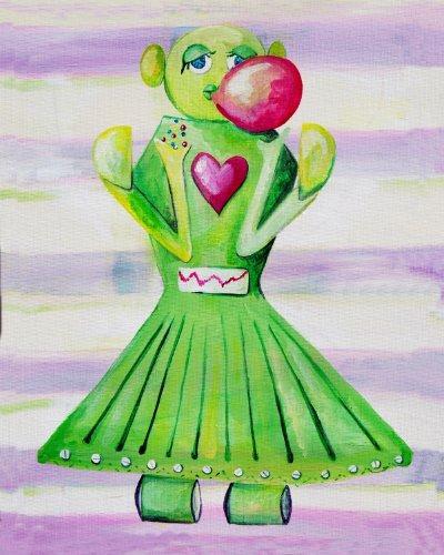 Cici Art Factory Wall Art, Poppy Loves Bubblegum, Small