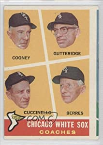 Don Gutteridge, Tony Cuccinello, Ralph Bell, Douglas Gunter COMC REVIEWED Good to VG-EX Chicago White Sox (Baseball Card) 1960 Topps #458