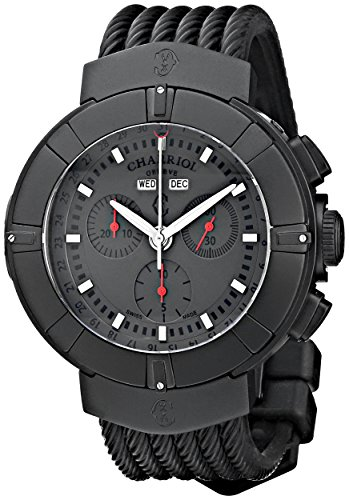 Charriol Celtica C44BM.173.004 44mm Stainless Steel Case Black Rubber Anti-Reflective Sapphire Men's Watch