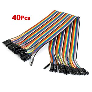 SODIAL(R) Female to Female Solderless Flexible Breadboard Jumper Cable Wire 40 Pcs from SODIAL(R)
