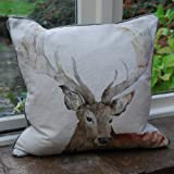 Voyage Maison Stag Linen Print Cushion   Cushion   Linen Cushion   Stag Print   Linen Stag Print   Soft Furnishing...