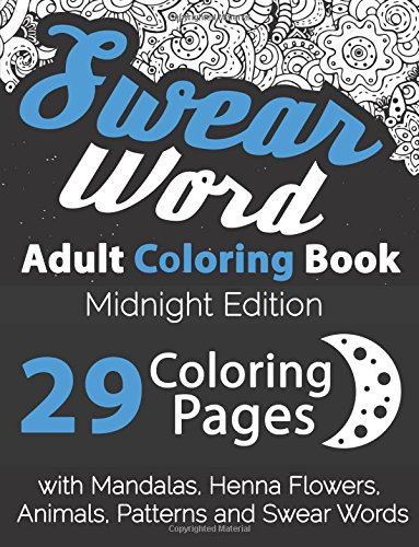 Swear word adult coloring book midnight edition 29 Dragon coloring book for adults midnight edition