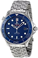 Omega Men's O21230412003001 Seamaster Analog Display Automatic Self-Wind Silver-Tone Watch by Omega