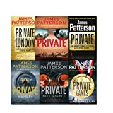 James Patterson James Patterson Private Series Collection 6 Books Set, (Private London, Private Games, Private, Private, Private: No. 1 Suspect, Private Berlin, Private Down Under)