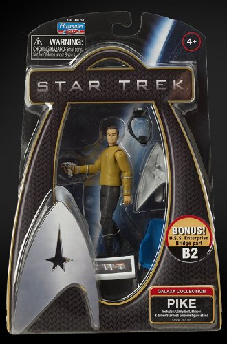 Star Trek Movie Playmates 3 3/4 Inch Action Figure Pike (Enterprise Uniform)