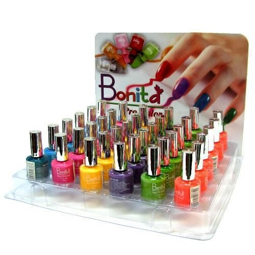 36 Pc Nail Polish Display 6 Colors Case Pack 72 - 893335