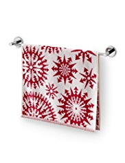Snowflake Design Towels